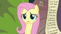 Fluttershy sees Angel doing something else S9E18