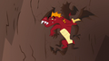 Garble climbs out of the hole dizzy S6E5.png