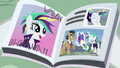 Magazine photo of Rarity helping Filthy Rich S7E19.png