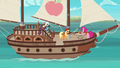 Main three on the boat in Pinkie's story S6E22.png