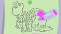 Pinkie Pie's Dress sketch S1E14.png