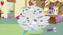 Rainbow Dash carrying papers S2E23