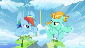 Rainbow competindo com Lightning S3E07