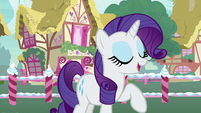Rarity -the winner of the contest will get to- S7E9