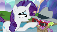 Rarity boops Spike on the nose S8E11