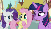 Rarity hesitant to explain S4E18