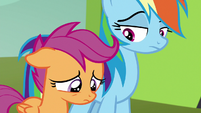 Scootaloo looking sad and disappointed S8E20