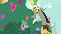 Spike and Discord see Big Mac approaching S8E10