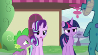 Starlight and Twilight look upset at Ember S7E15