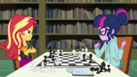 Sunset Shimmer beats Twilight at chess EGDS6