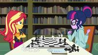 Sunset Shimmer beats Twilight at chess EGDS6