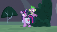 Twilight ready to enter the library S9E5