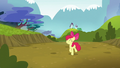 Apple Bloom trots happily back to Ponyville S5E4.png