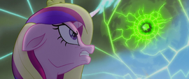 Cadance holding back the obsidian sphere MLPTM