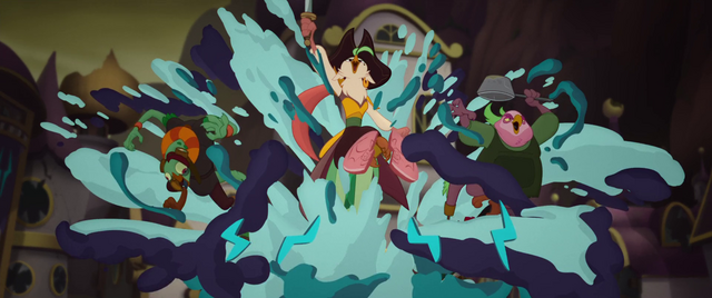File:Celaeno and her crew pop out of a giant cake MLPTM.png