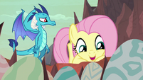 "Fluttershy ""are they finally hatching?"" S9E9"