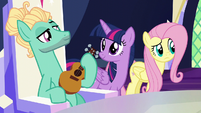 Fluttershy doesn't see Spike anywhere S6E11