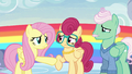 Fluttershy holding her mother back S6E11.png