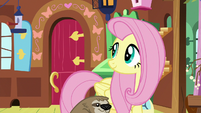 Fluttershy looking at the front door S7E5