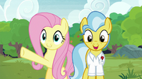 Fluttershy presents the sanctuary to Dr. Fauna S7E5