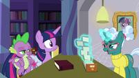 Librarian Pony looks through card catalog S9E5