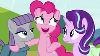 """Pinkie """"let's not tell anypony that part"""" S7E4"""
