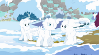 Ponies covered in snow S03E13