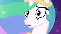 Princess Celestia hears Daybreaker's voice S7E10