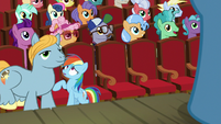 Rainbow Dash cut off by Big Stallion S8E5