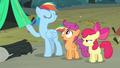 Rainbow Dash imitating Rarity S3E6.png
