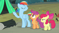 Rainbow Dash imitating Rarity S3E6