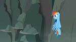 Rainbow Dash smacks into rock wall S2E07