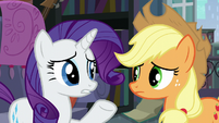 Rarity -why did it send the two of us-- S5E16
