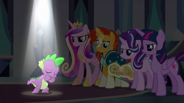 """File:Spike singing """"the darkness turn to light"""" S6E16.png"""
