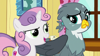 Sweetie Belle --since we are the Cutie Mark Crusaders-- S6E19