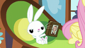 Angel holding a copy of Wuthering Hooves S5E23.png