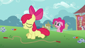 Apple Bloom sad from failing jump rope S2E18.png