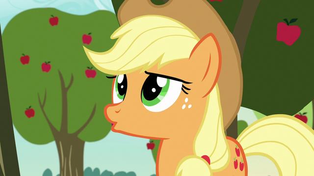 """File:Applejack """"although..."""" S7E9.png"""