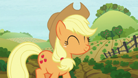 Applejack walking on the farm S8E12