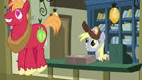 Big Mac bouncing away with heart eyes S8E10