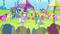 Cheerleaders cheering for Cloudsdale S4E10.png