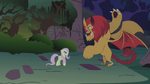 Fluttershy faces the manticore