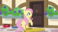 Fluttershy finds Dr. Fauna's door stuck S7E5