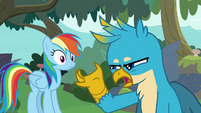 "Gallus ""we can just fly everyone over"" S8E9"