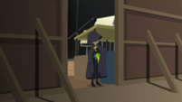 Juniper tucks the relics into her cloak EGS2
