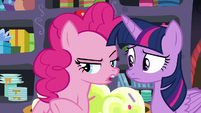 "Pinkie Pie ""took care of the fireworks"" S9E26"