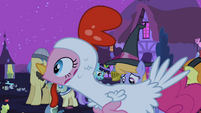 Pinkie Pie looking at something S2E04