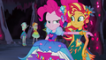 Pinkie Pie offering her arm to Sunset Shimmer EG4b.png