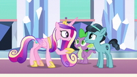Princess Cadance meets Crystal Hoof S6E16