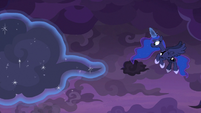 Princess Luna clearing the clouds S9E17